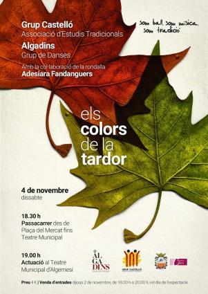 """Algadins Grup de danses Grup Castelló - Associació d'Estudis Tradicionals Tradicionals  """"Els colors de la tardor"""" la veu d'algemesí"""