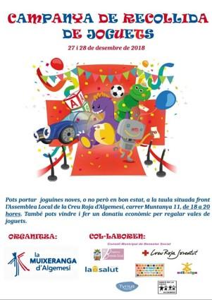 campanya recollida joguets muixeranga d'algemesí
