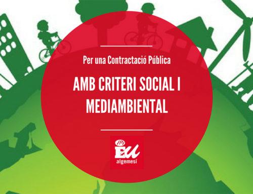 EU: «Els criteris socials i mediambientals es deuen considerar en la contractació pública»
