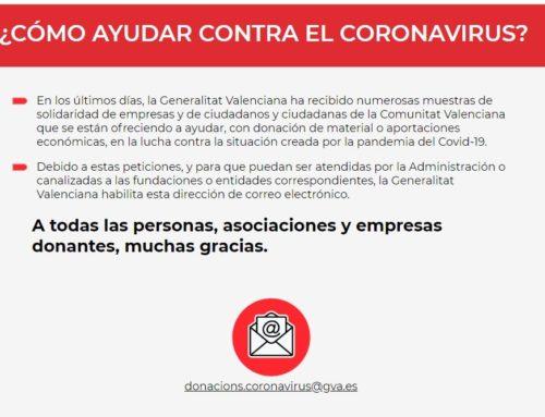 Correu de la Generalitat per a donacions contra el coronavirus