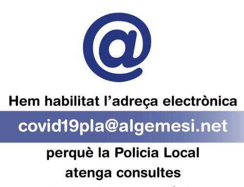 La policia local atén les consultes