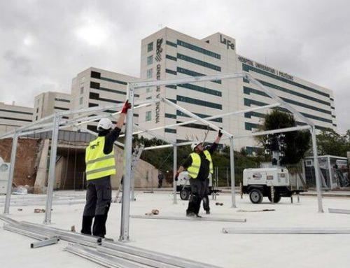 La Generalitat inicia el muntatge de tres hospitals de campanya