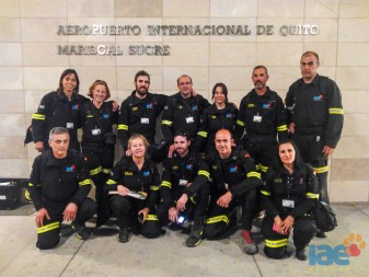ONG IAE moises belloch algemesi bomberos perros rescate terremoto quito ecuador la veu d'algemesi