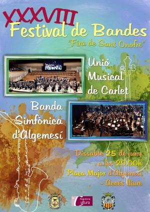 XXXVIII Festival de Bandes Algemesí Unió Musical de Carlet Beatriz Fernández Ferrer Ferran alberto ferrer la veu d'algemesí