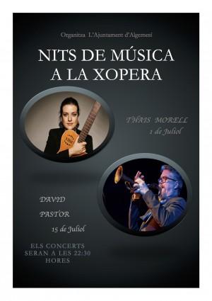 cartell nits de musica a la xopera Thaïs Morell David Pastor vicent nàcher ferrero la veu d'algemesí