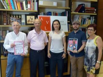 còmic mare de déu Ramon Ferrer president de l'Acadèmia Valenciana de la Llengua Col•lecció Gràfica Sèrie Còmics Fina Girbés Patrimoni Immaterial de la Humanitat per la Unesco L'alcaldessa d'Algemesí, Marta Trenzano la veu d'algemesi