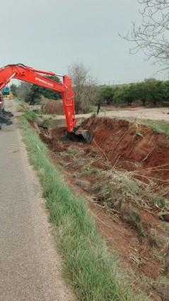 Obras acequia Sollana Algemesí Entitat Pública de Sanejament d'Aigües Residuals (EPSAR la veu d'algemesi
