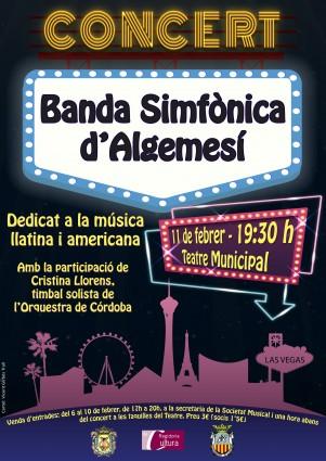 Concert d'hivern Banda Simfònica d'Algemesí prepara un concert dedicat a la música americana la veu d'algemesi