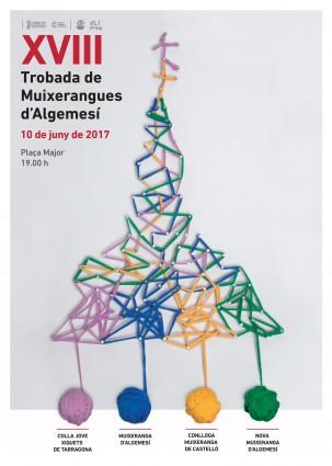 cartell-trobada-muixerangues-2017 algemesi La Jove de Tarragona La Conlloga de Castelló La Muixeranga d'Algemesí la Nova Muixeranga la veu d'algemesí
