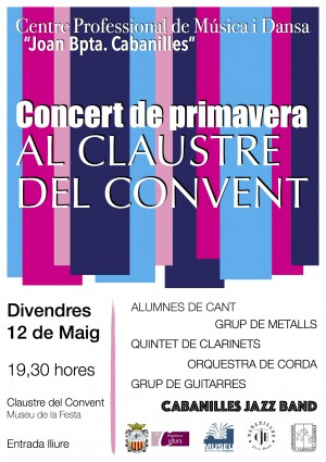 Concert de Professors i Alumnes Concert de Primavera al Claustre del Convent claustre del Convent de St. Vicent Museu de la Festa d'Algemesí la veu d'algemesí