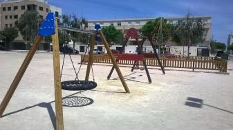 Joc infantil Pla 2 L'Ajuntament completa i millora els jocs infantils en l'espai recreatiu de La Xopera i en la zona residencial del Pla la veu d'algemesí