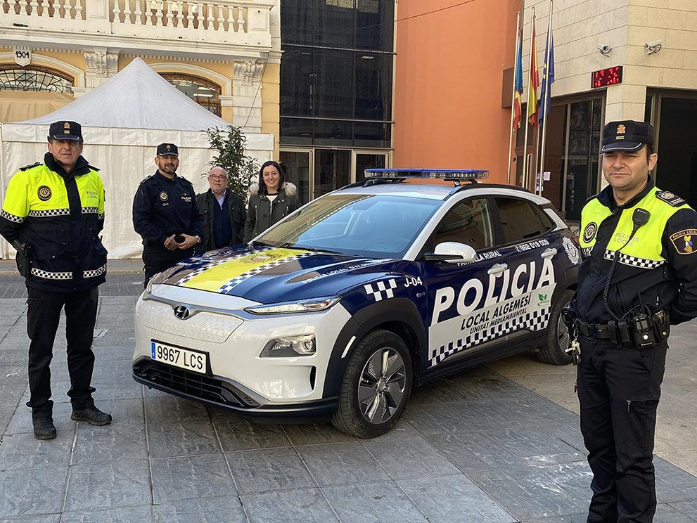 nou cotxe elèctric policia local algemesi