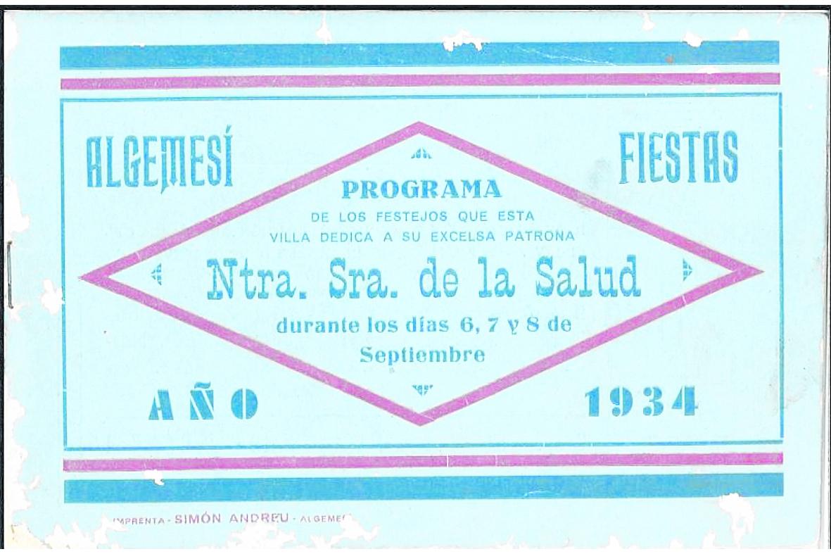 Programa de Festes de l'any 1934