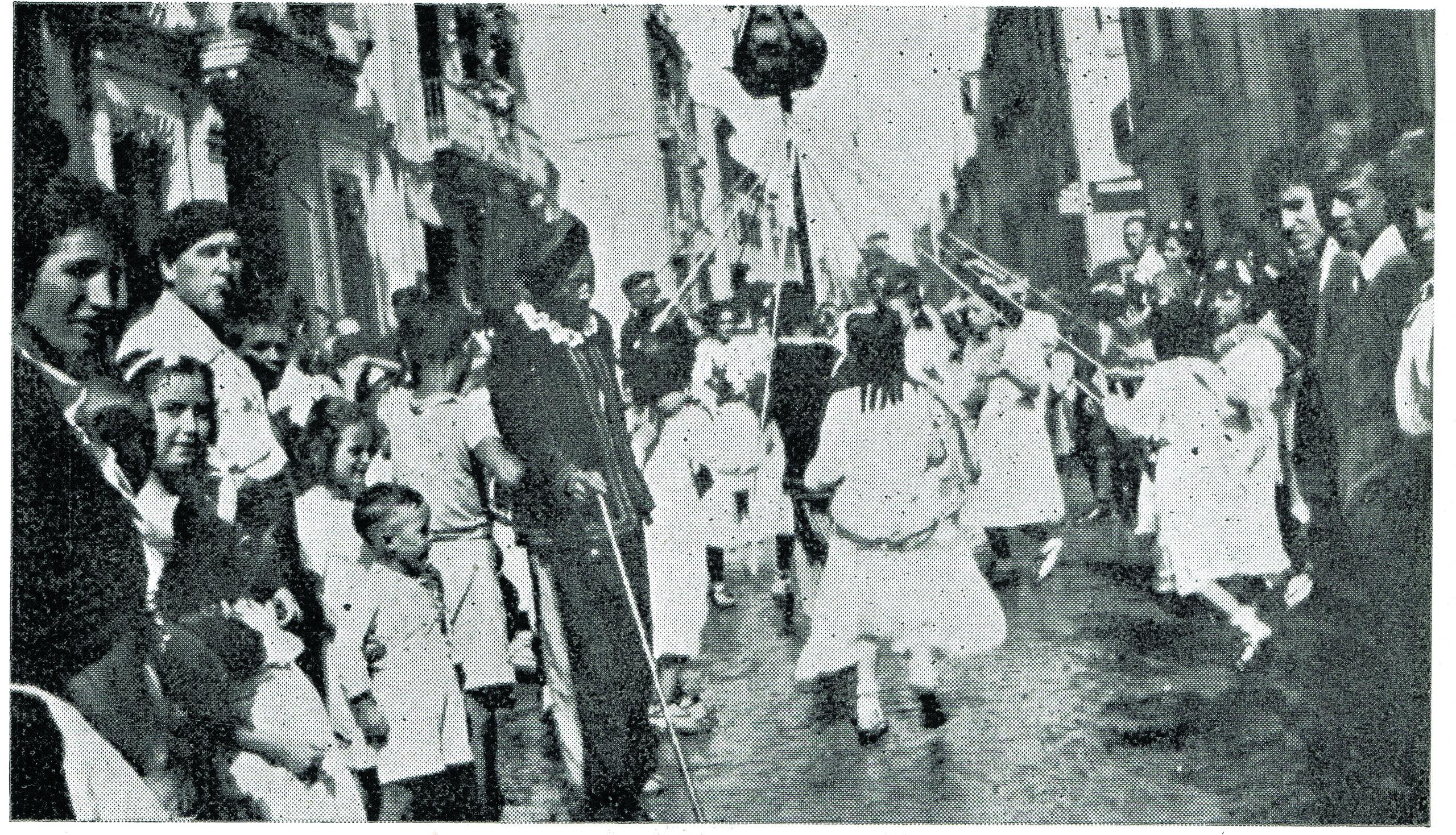 Ball de La Carxofa en 1950.