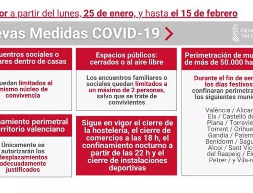 COVID: S'endureixen les restriccions a València