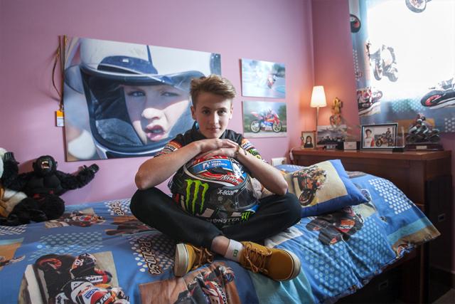 Jaume Masiá, pilot del Mundial de Moto3. Nº46 - gener 2016. MOISÉS CASTELL/Prensa2