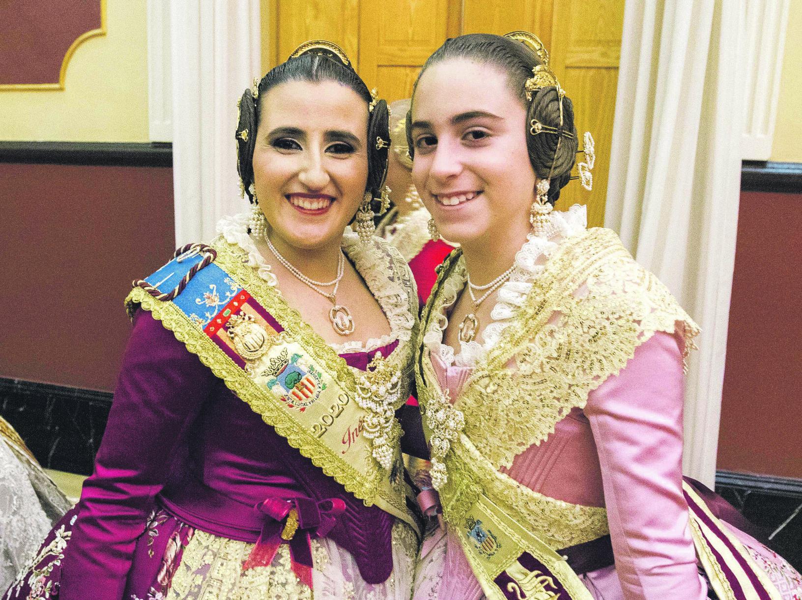 Ines Puigvert Irene Espiritusanto falleres majors algemesi moises castell prensa2