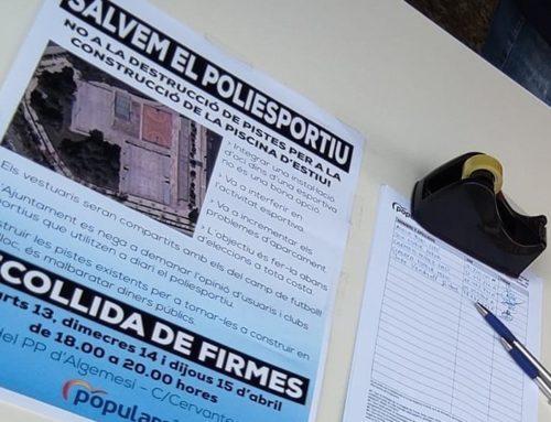 1.100 vecinos firman contra la destrucción del Polideportivo
